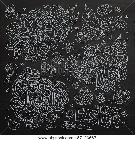 Easter vector symbols and objects