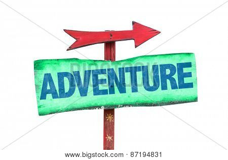 Adventure sign isolated on white