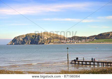 Llandudno North shore beach in North Wales