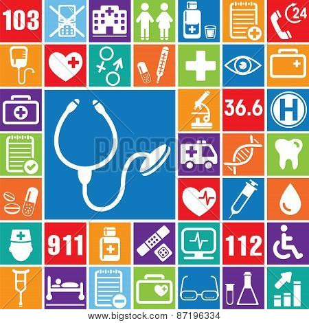 Medical Vector Icons Set_color