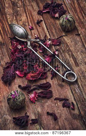 Spilled Tea On Wooden Surface