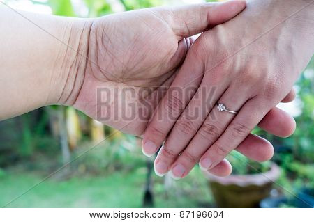 Love Hand Hold Ring Marry Marriage Finger Concept