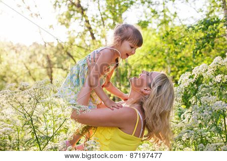 Happy Mother And Kid