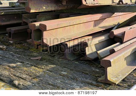 rusty old railroad tracks