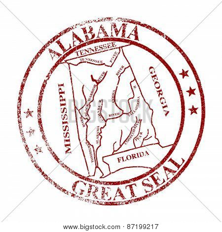 Alabama State Seal Stamp