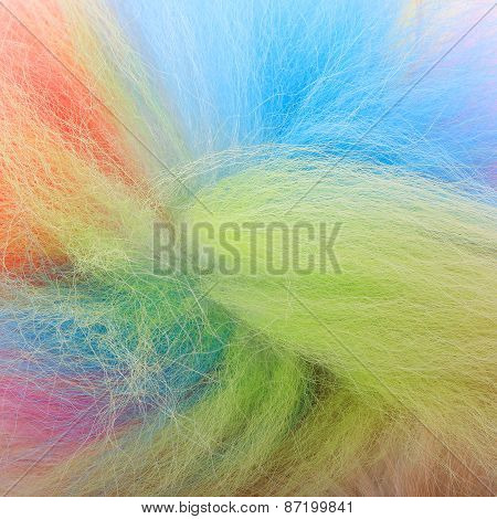 Textured Dog Hair Style Colorful Tail, Animal Fur