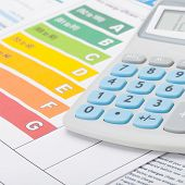 stock photo of fuel efficiency  - Neat Energy efficiency chart and calculator  - JPG