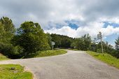 stock photo of naturel  - Crossroads of the D72 and D188 in Biert France - JPG
