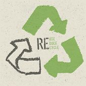 stock photo of reuse recycle  - Reuse conceptual symbol and  - JPG