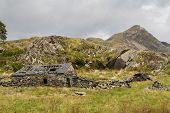 image of farmhouse  - Mountain Cnicht in Croesor Valley Snowdonia - JPG