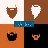 picture of rogue  - Beard style set with flat design  - JPG