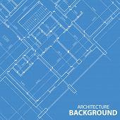 foto of blueprints  - Interesting blueprint best architectural plan in unique style - JPG