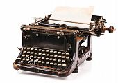image of old vintage typewriter  - old fashioned - JPG
