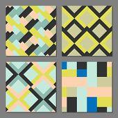 image of color geometric shape  - Abstract geometric pattern - JPG