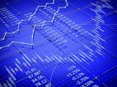 picture of stock market data  - Stock exchange trade chart bar candles concept  - JPG