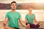 foto of serenity  - serene people doing yoga - JPG