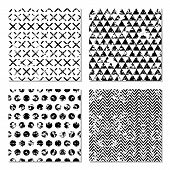 image of classic art  - Set of 4 abstract patterns - JPG