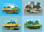 foto of naturism  - Ecology Concept Vector Icons Set for Environment - JPG