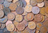 picture of shilling  - Huge pile of the UK coins - JPG