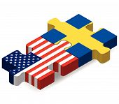 stock photo of sweden flag  - Vector Image  - JPG