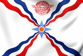 foto of mesopotamia  - 3D Flag of the Assyria - JPG