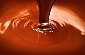 stock photo of liquid  - Chocolate flow - JPG