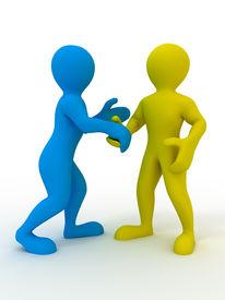 stock photo of three dimensional shape  - Handshake - JPG
