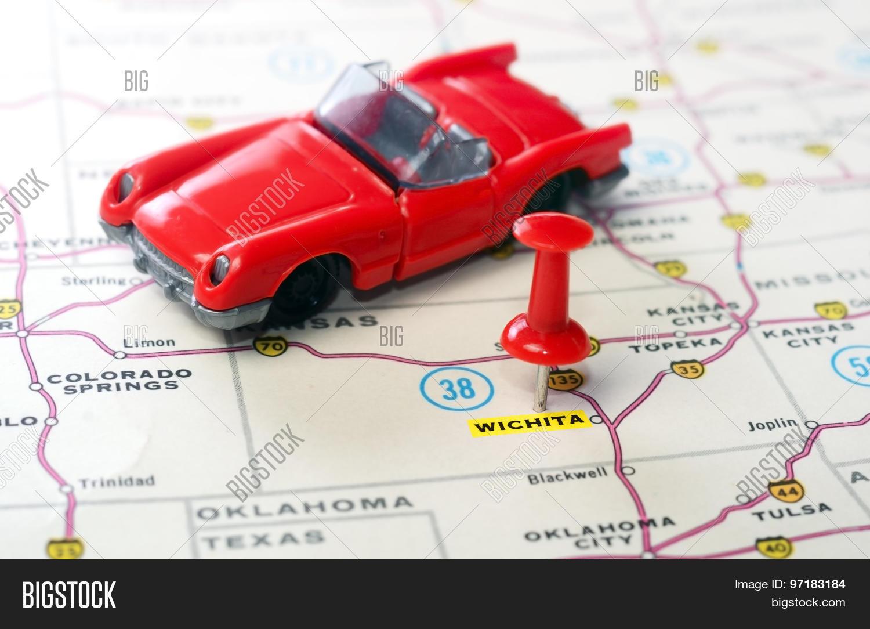 Usa Map Names States Cities Stock Illustration - Kansas usa map