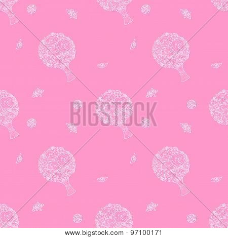 Vector seamless wedding background.