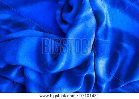 Close Up Of Blue Cotton Texture - Textile Background