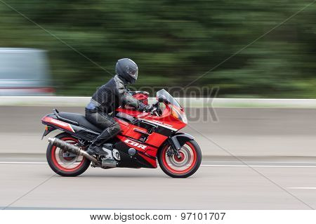 Honda Cbr 1000F On The Highway