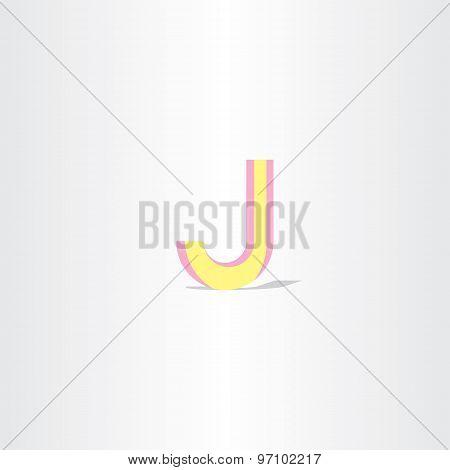Logo Letter J Yellow Symbol Design Element