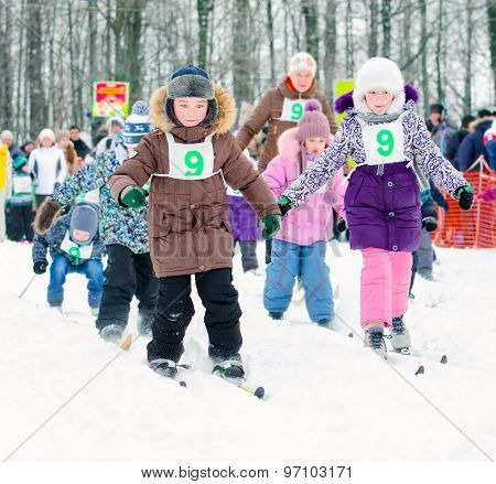 a group of skiers