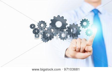 Activate working mechanism