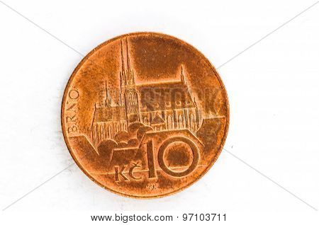 10 Czech Krone Brno Coin Copper