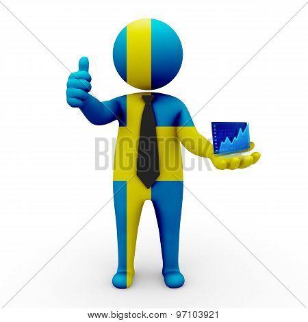 3d businessman people Sweden - Stock Exchange of Sweden