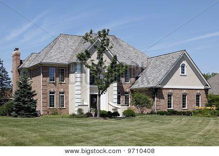 Brick Home With Cedar Roof