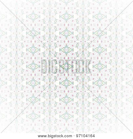 Seamless patter white green shining