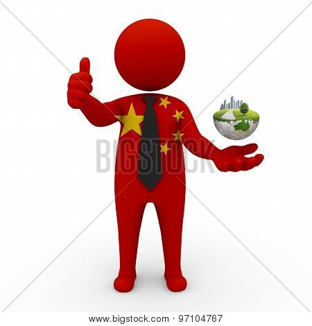 3d businessman people  China - Environment and construction China