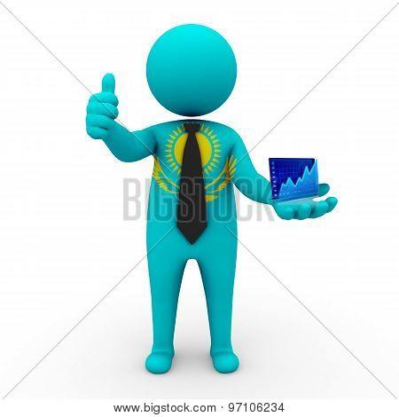 3d businessman people Kazakhstan - Stock Exchange of Kazakhstan