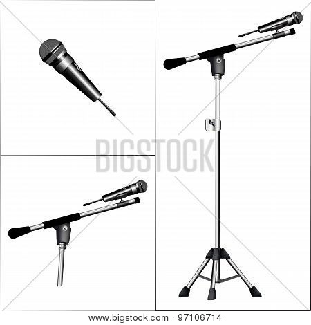 Microphone On A Tripod