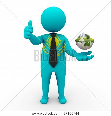 3d businessman people  Kazakhstan - Environment and construction Kazakhstan