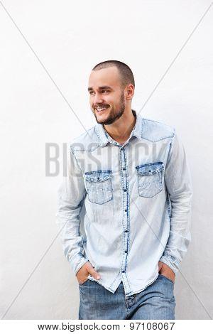 Happy Guy In Denim Clothing