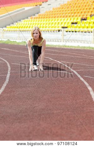 woman running outdoors training
