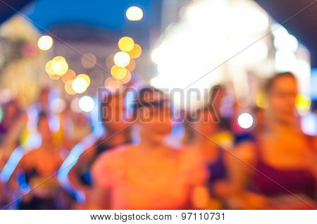 Fast moving runners - motion blur. Sport background