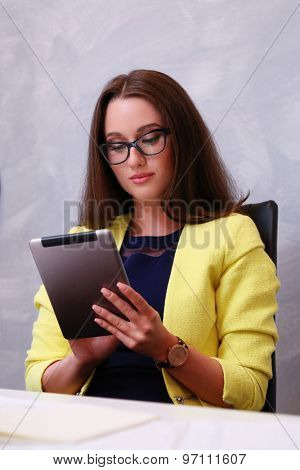Business, work. Woman in the office