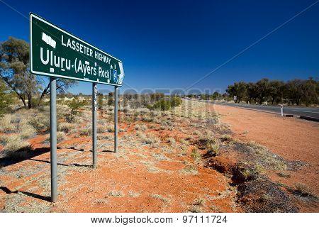 Uluru Road Sign