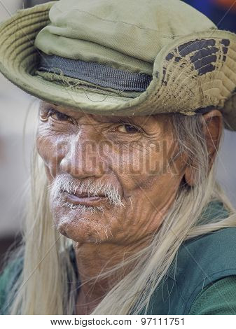 Old Local Man In Bangkok, Thailand