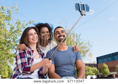 Friends Taking A Selfie