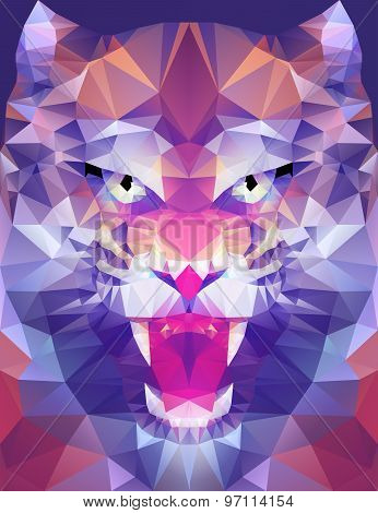 Abstract polygonal tiger